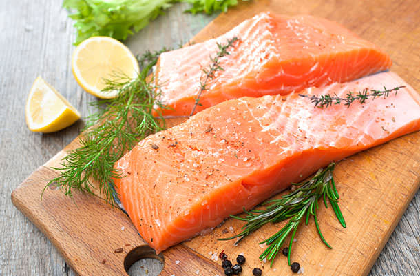 bigstock-Salmon-Fish-Fillet-With-Fresh--60664049
