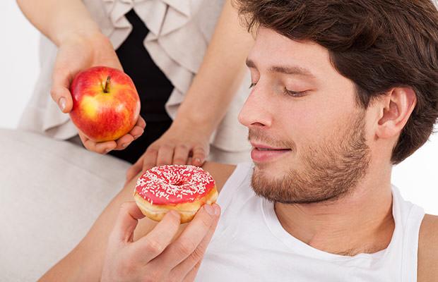 bigstock-Donut-Versus-Apple-66317353